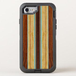 Falsa Koa tabla hawaiana de madera de Nalu Hou Funda OtterBox Defender Para iPhone 7