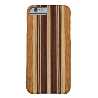 Falsa Koa tabla hawaiana de madera de Nalu Lua Funda Barely There iPhone 6