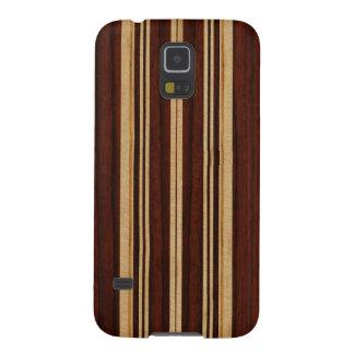 Falsa Koa tabla hawaiana de madera de Nalu Lua Funda Para Galaxy S5