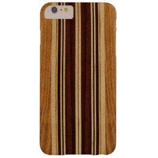 Falsa Koa tabla hawaiana de madera de Nalu Lua Funda Para iPhone 6 Plus Barely There