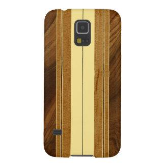 Falsa Koa tabla hawaiana de madera de Nalu M.U.A. Carcasas Para Galaxy S5
