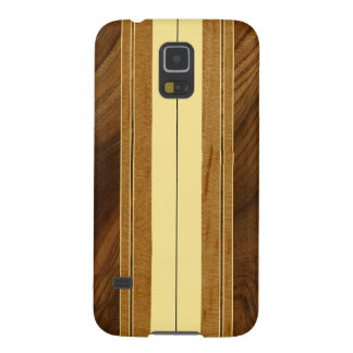 Falsa Koa tabla hawaiana de madera de Nalu M.U.A. Carcasas De Galaxy S5