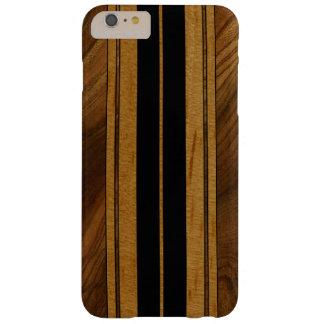 Falsa Koa tabla hawaiana de madera de Nalu M.U.A. Funda Barely There iPhone 6 Plus