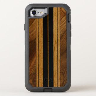 Falsa Koa tabla hawaiana de madera de Nalu M.U.A. Funda OtterBox Defender Para iPhone 7