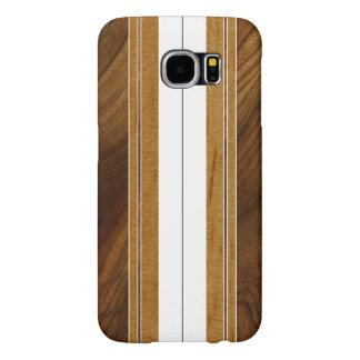 Falsa Koa tabla hawaiana de madera de Nalu M.U.A. Fundas Samsung Galaxy S6