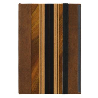 Falsa Koa tabla hawaiana de madera de Nalu M.U.A. iPad Mini Carcasas