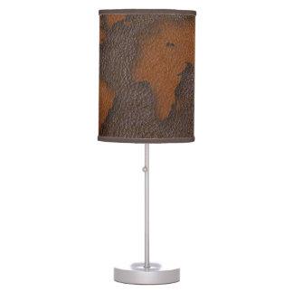 Falsa lámpara de mesa de cuero del mapa del mundo