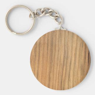 Falsa madera acabada rústica del granero llavero redondo tipo pin