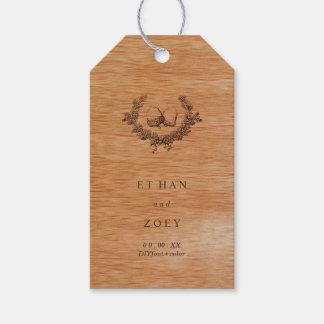 Falsa madera/bellotas de PixDezines Etiquetas Para Regalos