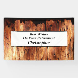 Falsa madera, personalizada 3 líneas de retiro del lona