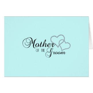 Falsa madre de la demostración del novio tarjeta de felicitación
