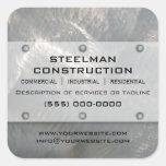 Falsa Metal-Mirada de plata cepillada promocional Colcomanias Cuadradas Personalizadas