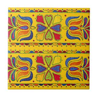 Falsa mirada de los artes y de los artes de la tej azulejo cuadrado pequeño