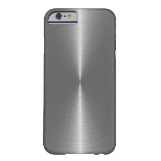 Falsa mirada del acero inoxidable de los gris funda barely there iPhone 6