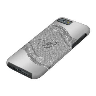 Falsa mirada metálica de plata con el modelo 2 de funda para iPhone 6 tough