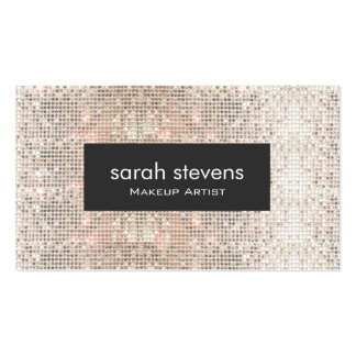 Falsa moda de plata elegante de la belleza de las tarjetas de visita