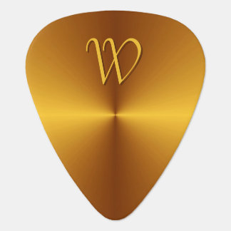 Falsa monograma personalizado del metal del oro plectro
