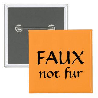 FALSA no piel Pin Cuadrada 5 Cm