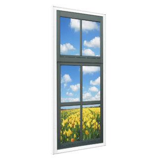 Falsa opinión de la ventana de los tulipanes amari impresiones de lienzo