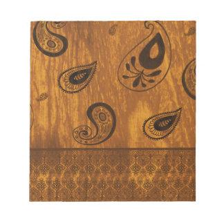 Falsa Paisley de madera Libretas Para Notas