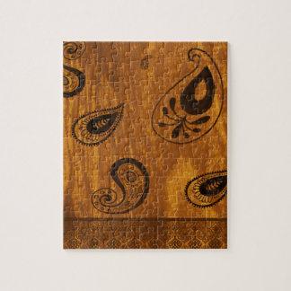 Falsa Paisley de madera Rompecabeza