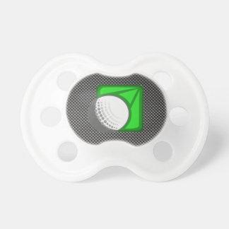 Falsa pelota de golf de la fibra de carbono chupetes de bebé