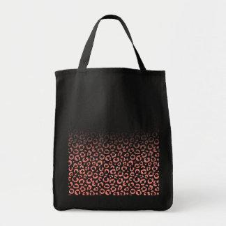 Falsa pendiente rosada coralina del estampado bolsa tela para la compra