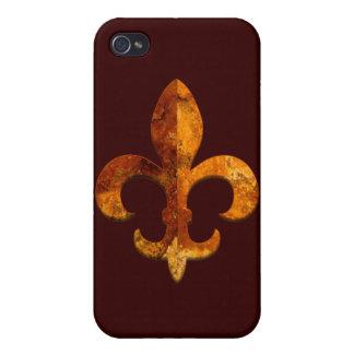 Falsa piedra 2 de Fleur iPhone 4 Protectores