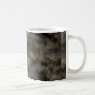Falsa piel animal de los gris plateados y de Brown Taza De Café