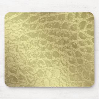 Falsa piel de oro del cocodrilo alfombrilla de ratón