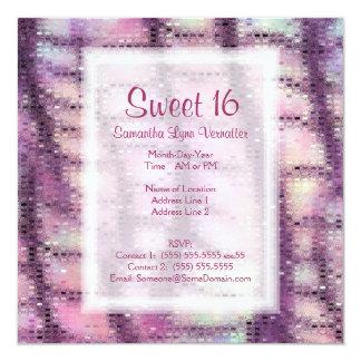 """Falsa piel del dragón (cuarzo color de rosa) invitación 5.25"""" x 5.25"""""""