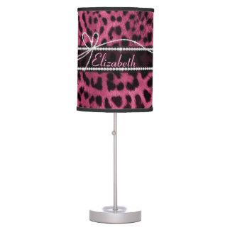 Falsa piel femenina elegante de moda del animal de lámpara de escritorio