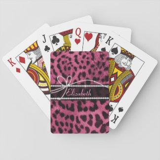 Falsa piel femenina elegante de moda del animal de cartas de juego