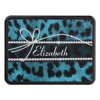 falsa piel femenina elegante de moda del leopardo  tapas de tráiler