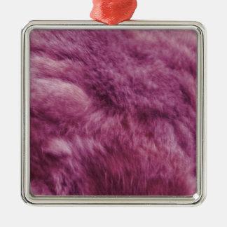 Falsa piel rosada del gato ornamento de navidad