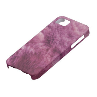 Falsa piel rosada del gato iPhone 5 cárcasas