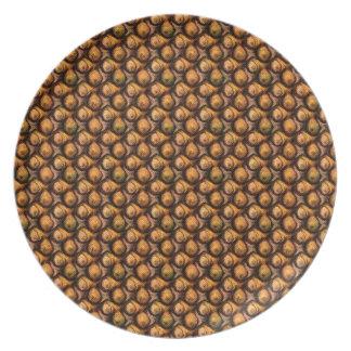 Falsa placa de madera del diseño único de la burbu platos