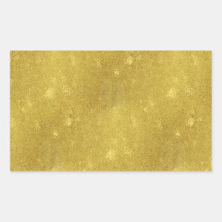 Falsa plantilla de la chispa del fondo de la pegatina rectangular