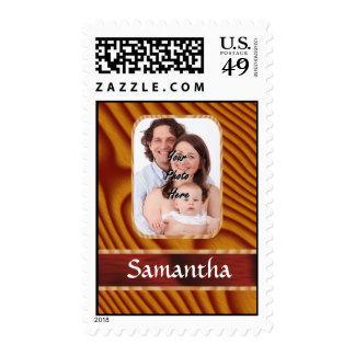 Falsa plantilla de madera de la foto sello