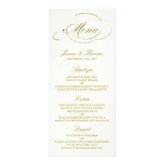 Falsa plantilla elegante del menú del boda de la tarjetas publicitarias