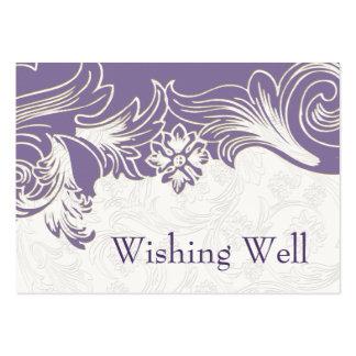 FALSA púrpura de papel del recorte que desea tarje Tarjetas De Visita