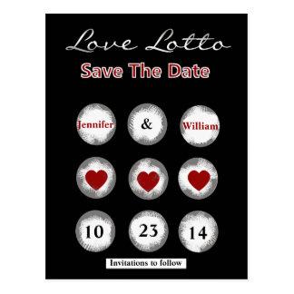 Falsa reserva de la loteria del amor la postal de