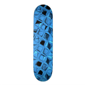 Falsa serpentina del diamante azul metálico patin