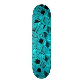 Falsa serpentina del diamante metálico brillante tablas de skate