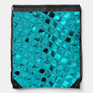 Falsa serpentina del diamante metálico brillante mochila