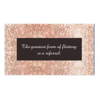 Falsa tarjeta color de rosa de la remisión de la tarjetas de visita
