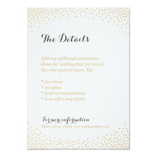 "Falsa tarjeta de detalle Editable del confeti del Invitación 4.5"" X 6.25"""