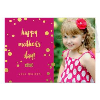 Falsa tarjeta de felicitación del día de madre de