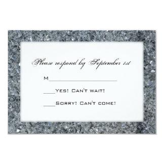 Falsa tarjeta de la respuesta del boda de la invitación 8,9 x 12,7 cm