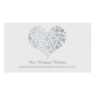 Falsa tarjeta de plata del Web site del boda del Tarjetas De Visita